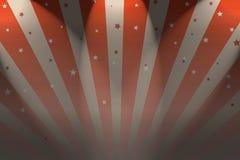 Big Top. A Circus Big top style background with spotlights Stock Photos