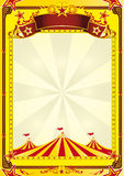 Big Top circus flyer. A yellow background with big top for a flyer or a poster Stock Images
