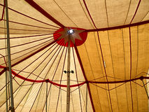 Big top circus tent. Big top traditional circus tent viewed from the inside Stock Photography