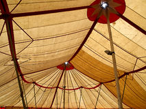 Big top circus tent. Big top traditional circus tent viewed from the inside Royalty Free Stock Photos