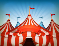Big Top Circus Tents With Banner Stock Photos