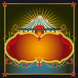 Big top sign. A greeting card on circus theme with a large copy space for your message Stock Images