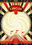 Big top sunbeams circus poster royalty free stock image