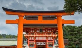 Big Torii in front of Fushimi Inari Taisha Shinto Shrine. Stock Image