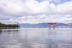 A big Torii gate at Miyajima, Japan Stock Image