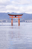 A big Torii gate at Miyajima, Japan Royalty Free Stock Photography
