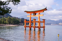 A big Torii gate at Miyajima, Japan Stock Photo