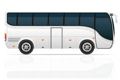 Big tour bus vector illustration Royalty Free Stock Photo