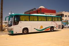 Big tourist buses Stock Images