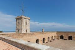 Big tower of Castle of Montjuic, Barcelona Stock Photo