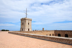 Big tower of Castle of Montjuic, Barcelona Stock Image
