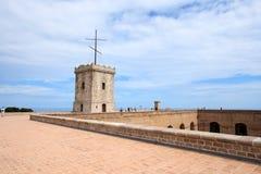 Big tower of Castle of Montjuic, Barcelona Stock Image