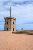 Big tower of Castle of Montjuic, Barcelona Stock Photos