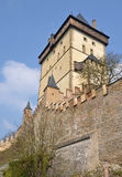 Big Tower of Karlstejn castle Royalty Free Stock Image