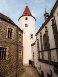 Big tower of Krivoklat Castle Royalty Free Stock Image