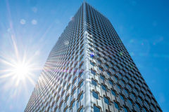 Big tower in La Defense business district in paris on a sunny day Royalty Free Stock Images