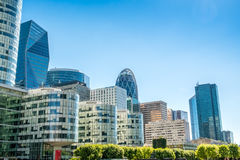 Big towers in La Defense business district in paris Stock Image