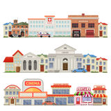 Big Town Three Colored Skylines Royalty Free Stock Photo