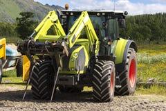 Big tractor in andenes in Norway Stock Photo