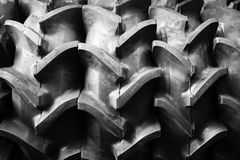 Big tractor rubber tire Stock Images