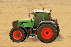 Tractor on field royalty free stock photography