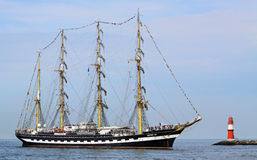Big traditional sailing ship 01 Stock Images