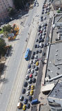 Big traffic jam in Moscow Royalty Free Stock Photo