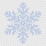 Big translucent crystal snowflake Stock Image
