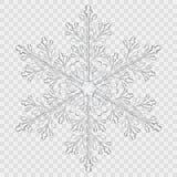 Big translucent crystal snowflake Royalty Free Stock Image