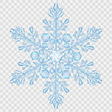 Big translucent crystal snowflake Stock Photo