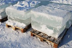 Big translucent ice blocs Stock Image