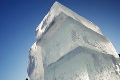 Big translucent ice blocs Stock Images