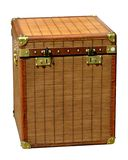 Big Travel Trunk. Big brown travel trunk reinforced box stock image