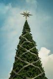 The big tree in asia. Christmas tree in bangkok thailand Royalty Free Stock Photo