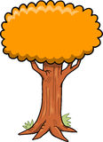 Big Tree Vector Illustration Royalty Free Stock Images