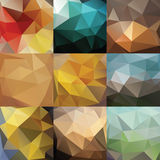 Big triangle background set Royalty Free Stock Photos