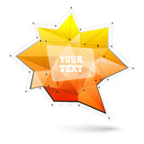 Big triangular trendy bubble. Polygonal vector illustration Stock Photo