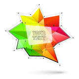 Big triangular trendy bubble. Polygonal vector illustration Stock Image