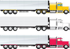 Big truck. Side view of a big truck colored and b/w on a white background Stock Illustration