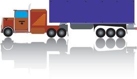 Big truck. Illustration,  art Royalty Free Stock Photos