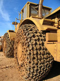 Big truck. With protection chains in the weels Royalty Free Stock Image