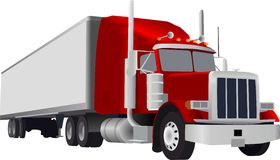 Big truck. Vector big truck with big container Royalty Free Stock Photos