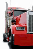Big truck. Isolated very big red truck Stock Photo