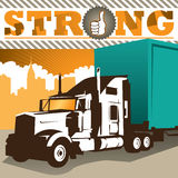 Big truck background Stock Images