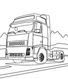 Big truck coloring page Royalty Free Stock Photos