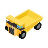 Big truck isometric 3d icon. Isolated on a white background Stock Image