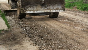 Big truck moving gravel. On the road stock video