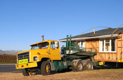 Big truck moving house Stock Images