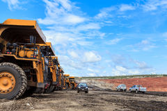 Big truck in open pit and blue sky Stock Photography