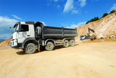 Big truck in a quarry Royalty Free Stock Photos